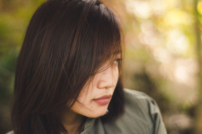 My Best Photo One Person Headshot Focus On Foreground Portrait Close-up Women Real People Front View Lifestyles Young Women Hairstyle Human Face Sad Sadness Young Adult People Asian  Daydreaming Model International Women's Day 2019