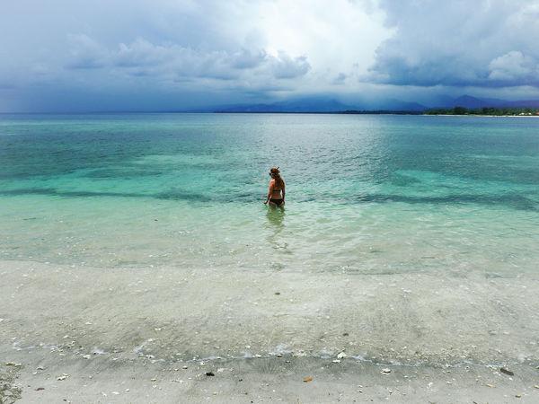 Bali Beach Bikini Diving Gili Islands Horizon Over Water INDONESIA Leisure Activity Lifestyles Lombok Sea Sky Snorkeling Swimming Thunderstorm Traveling Tropical Turquoise Water V Water White Sand White Sand Beach TakeoverContrast