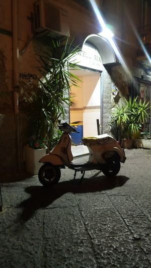 Nápoles Naples. Motorcycle One Person Full Length Only Men One Man Only Adults Only People Adult Tree Architecture Outdoors Night