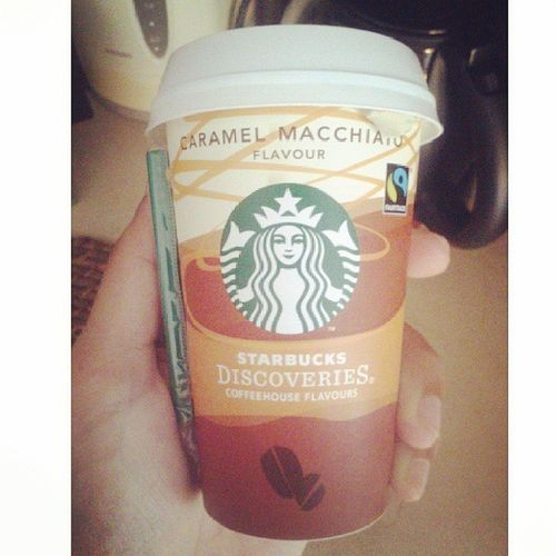 Good morning Starbucks Coffee Caramelmachiatto Breakfast instadaily