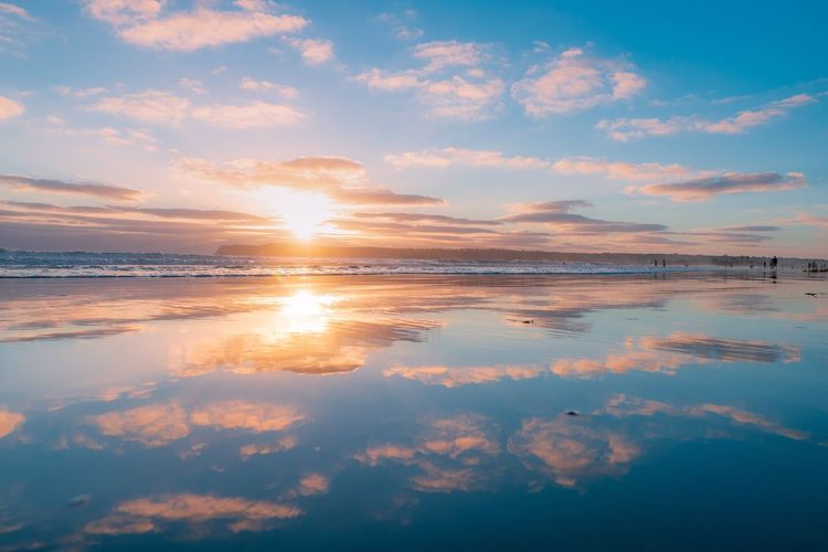 Sunset Ocean Travel Destinations Sandiego Clouds Long Exposure Sandiego Water Sky Scenics - Nature Beauty In Nature Sea Tranquility Reflection Cloud - Sky Tranquil Scene Sunset Beach Land Idyllic Nature No People Outdoors