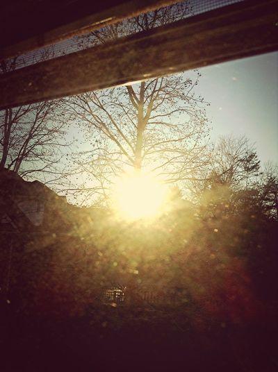 The sun is so bright!!