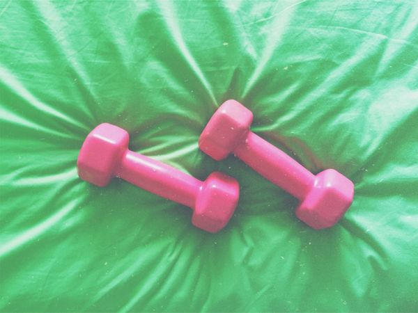 Dumbell Dumbbells China Shenzhen Fitting Pink Pink Color Green Green Color Enjoying Life Relaxing