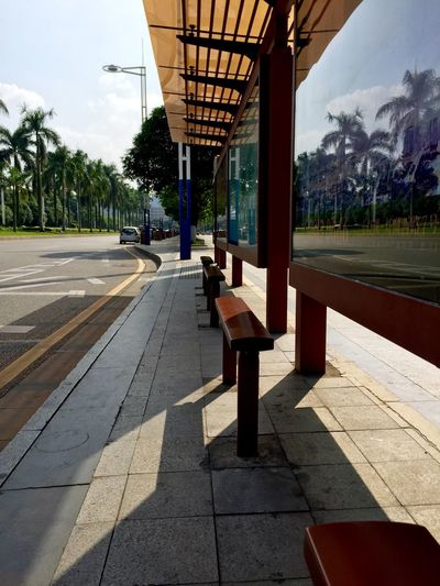 Bus Stop By Road