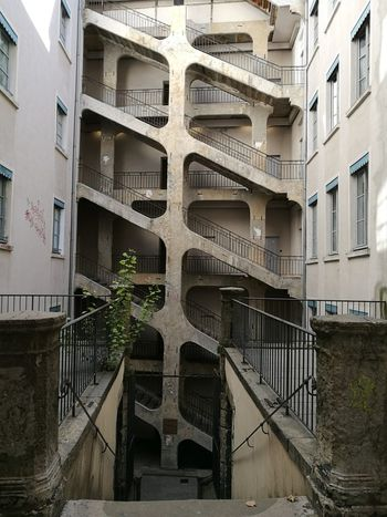Architecture Built Structure Building Exterior Steps And Staircases Staircase No People Outdoors Day Spiral Staircase City France 🇫🇷 Lyon❤ Your Ticket To Europe