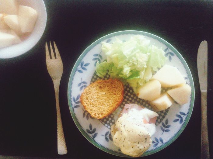 petit déjeune Food Plate Homemade Breakfast Table Egg Eggbenedicts