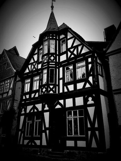 Architecture Black And White Fachwerk