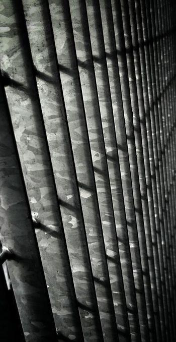 Monochrome Fence Contrast Urban