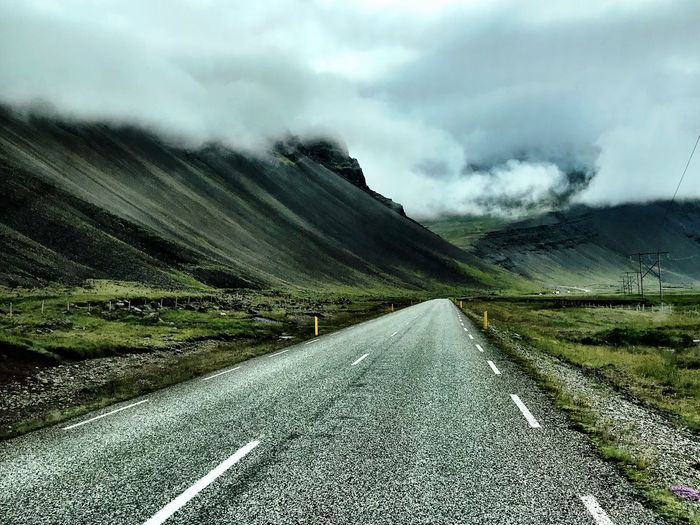 Iceland ring road Sky Cloud - Sky Landscape Tranquil Scene Environment Tranquility Nature Scenics - Nature Field Land Rural Scene Day Beauty In Nature Plant No People Non-urban Scene Road Agriculture Growth Farm