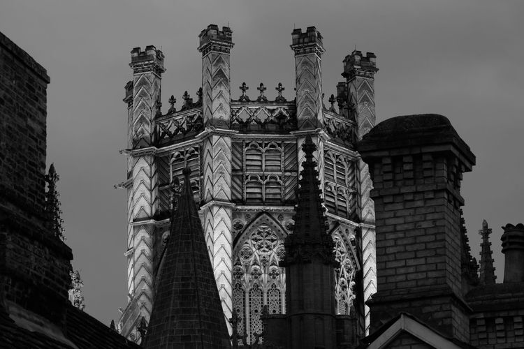 Ely Cathaderal Architecture Black & White Cathedral Ely UK Illuminated Night Religous Time Exposure