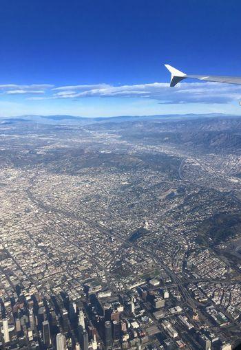 DowntownLA Losangeles from Korean air A380