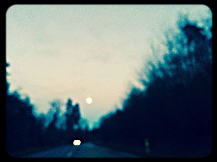 Fullmoon On The Road