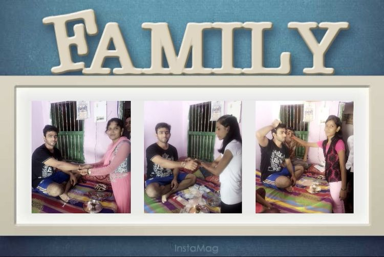Family Love  CELEBRATION DAY Rakshabandhan Enjoying The Day Em ✌😊