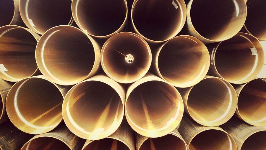 View through metal pipe