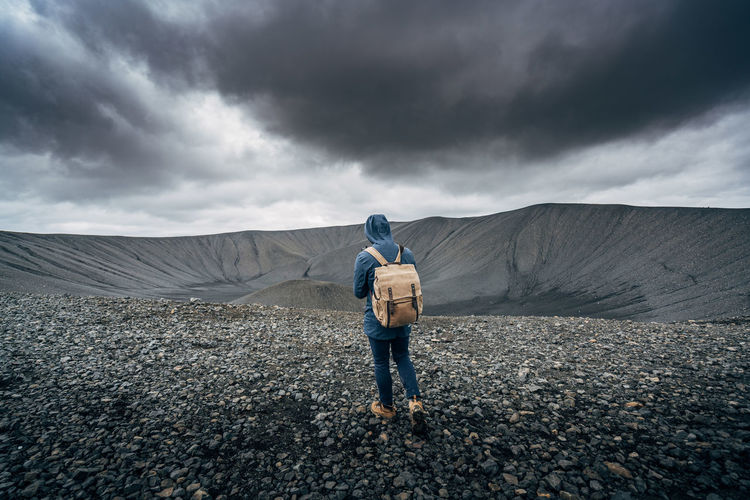 Adult Adults Only Adventure Cloud - Sky Day Dramatic Sky Full Length Iceland Men Nature One Man Only One Person Only Men Outdoors People Sky Storm Storm Cloud Young Adult Lost In The Landscape