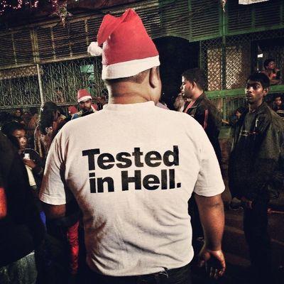 Merry Christmas World! Christmas Funny Santa Incrediblecalcutta bowbarracks