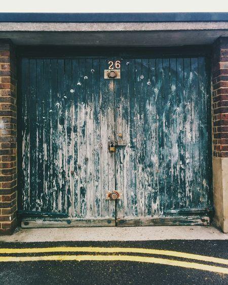 Defocused garage door