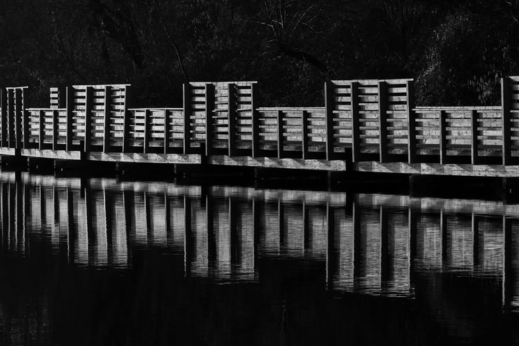 Black and white reflection Architecture Architecture_collection B/W Photography Bridge Bw Bw_collection No People Outdoors Reflection Reflection Reflection_collection Reflections Reflections In The Water Water Waterfront