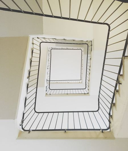 Directly Below View Of Staircase In Building