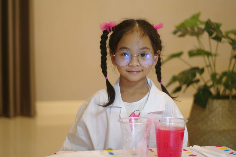 Little scientist doing some experiments