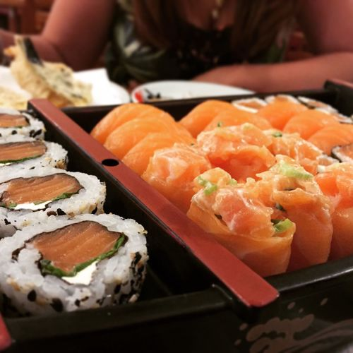 Food Food And Drink Freshness Seafood Sushi Japanese Food Salmon Healthy Eating Ready-to-eat Japanese Food