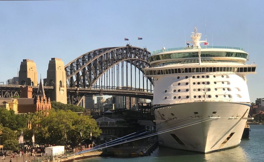 Sydney Harbour Bridge Let's Visit Harbour Bridge Awesome Architecture Bridge View Ship Nature Tree Sky Clear Sky Harbor Building Exterior Water Outdoors Day Travel Destinations Architecture Built Structure Nautical Vessel Be. Ready.