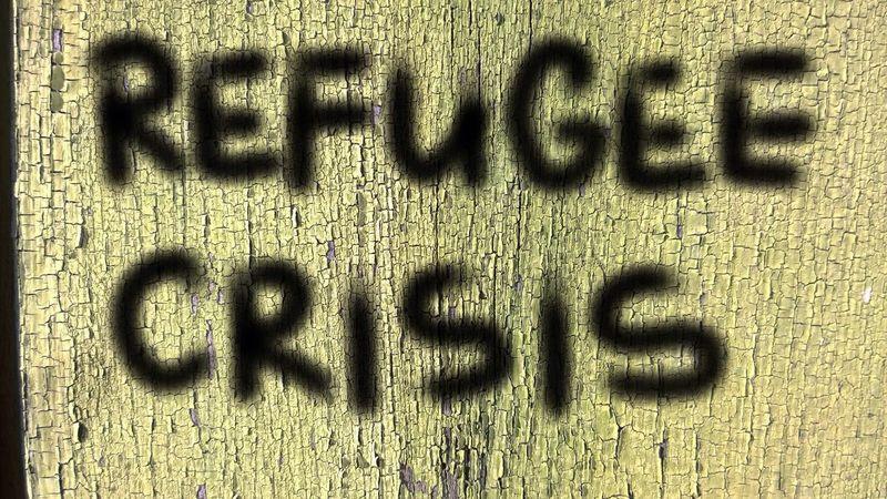 Refugee crisis Graffiti Human Crisis Refugees Refugee Crisis