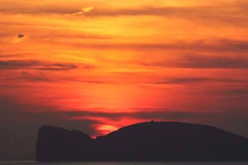 Sunset Dramatic Sky Nature Scenics Beauty In Nature Cloud - Sky Tranquil Scene Tranquility No People Outdoors Silhouette Landscape Sky Cliff Red Day Sunlight Sardegna Sardinia,italy Capocaccia Alghero Alghero, Sardinia, Italy Alghero, Sardegna - Italy Alghero Sardegna Sky And Clouds