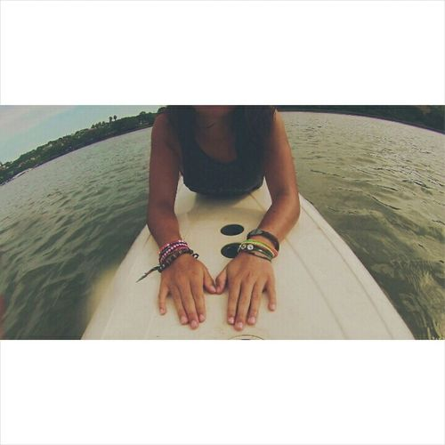 South Africa Port Alfred Happiness Relaxing River Surfboard Summertime
