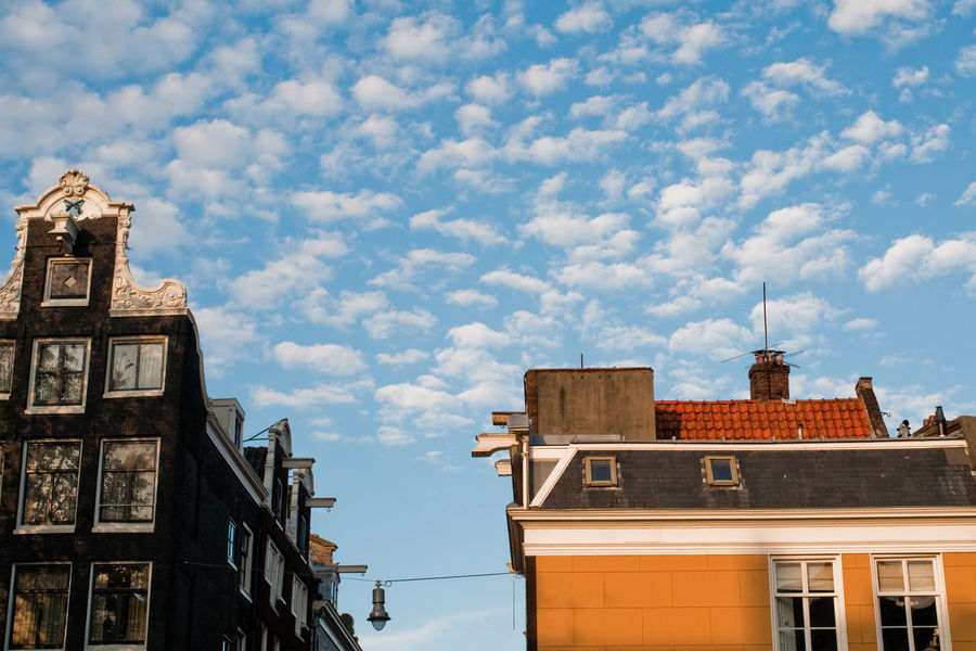Amsterdam Architecture Cityscapes Cloud - Sky Cloudy Dutch Houses Exterior Historic Netherlands No People Roof Sky