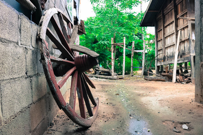 Old Wagon Outdoors Peaceful View Transportation
