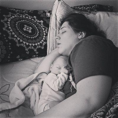 Momma @Kaitlynk231 & Baby @Jaxon231 My two little sleeping angels!