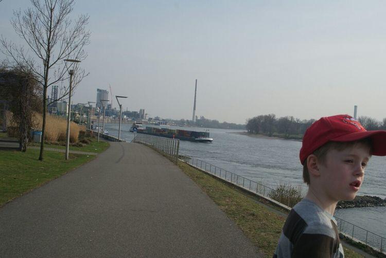 Rheinufer,Leverkusen,my Son