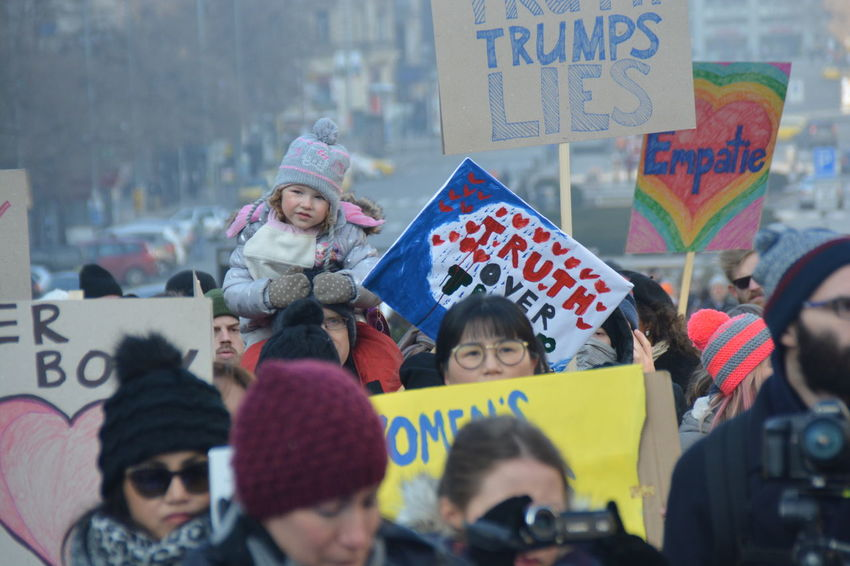 Demonstration Human Rights Prague Czech Republic Prague Solidarity Rally With The Women's March On Washington Putin Solidarity Trump Women March Womens Rights