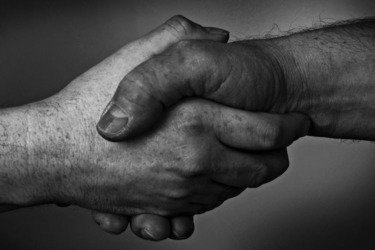 Cropped image of people shaking hands