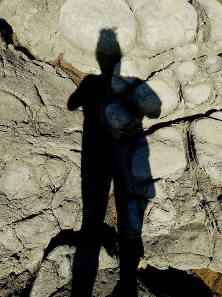 It Was Me.... Shadow High Angle View Outdoors Focus On Shadow Day Nature Vacations Tranquility Footpath Shadows And Sunlight Shadow Me Rocks On The Beach Rockscape Shadows And Silhouettes Shadow Photography Portrait @ Coral Cove.