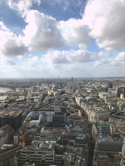 View of London. Top view of St.Pauls. Aerial View Church Religious  Religious  St.Pauls Church Central London London Building Exterior City Architecture Built Structure Cityscape Cloud - Sky Sky Building Residential District High Angle View Office Building Exterior Skyscraper Modern City Life