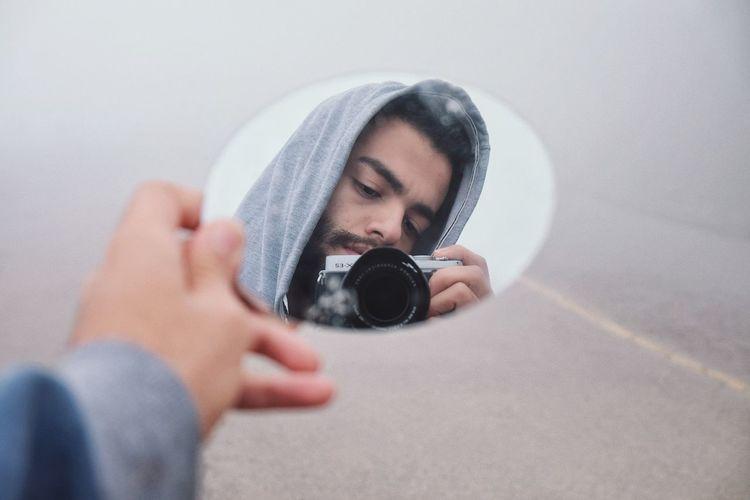 Self Portrait Selfie ✌ Milad Hajizade Iran Miladhajizade Human Hand Men Photography Themes Home Interior Close-up
