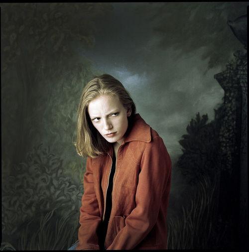 Actress/director Sarah Polley, Toronto, 1997. Actor Actress Portrait Photography Film Photography Portrait Of A Woman Sarah Polley Portrait Studio Photography Canadian Cross Process Portrait Blond Hair Young Women Women