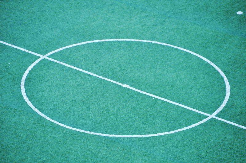 Full frame shot of empty soccer field