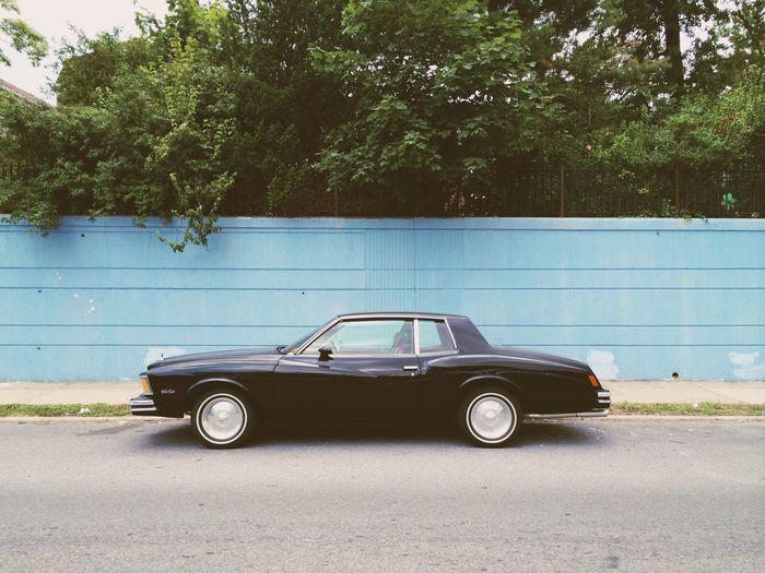 Vintage Cars Blue Black Car