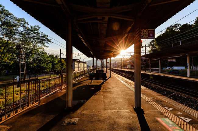 Sunset at Yamazaki JR Station Sunlight Railway Station Yamazaki Sunset EyeEmBestPics EyeEm Gallery Eyeemphotography Picoftheday Canon Canon5dmk2 Canonphotography CanonFullFramer Check This Out Travel Destinations Landscape_photography