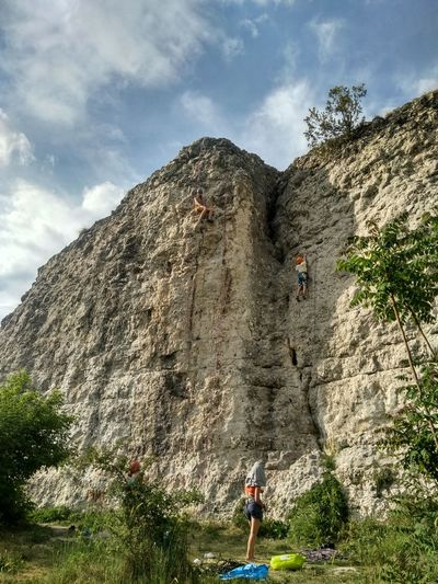 Climbing Rock Rope Limestone Tree Working Men Water Occupation Agriculture Child Spraying Sky Hiker Blooming Mountain Climbing Climbing Equipment