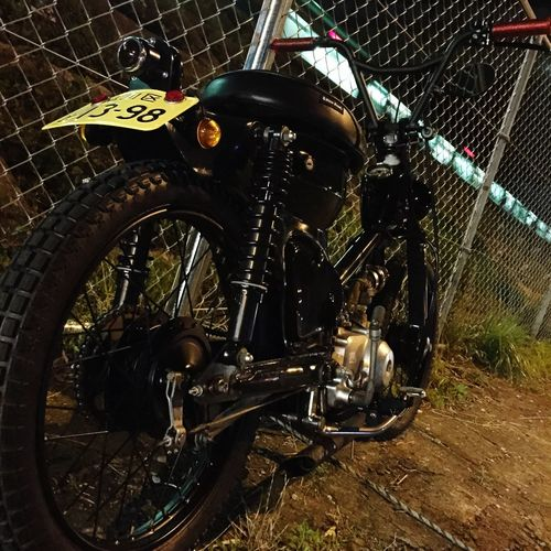 Night Run SuperCub Chopper Custom Bikes