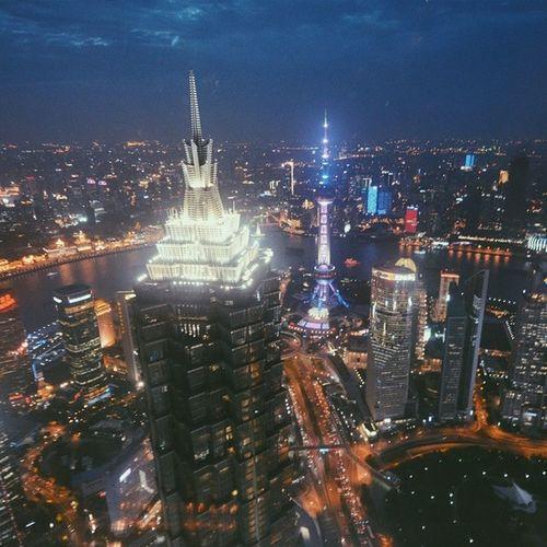 Shanghai Vscocam Nightview Skyscrapers amazingview skybar skyline china 上海 tallestbuilding dinner night lights city