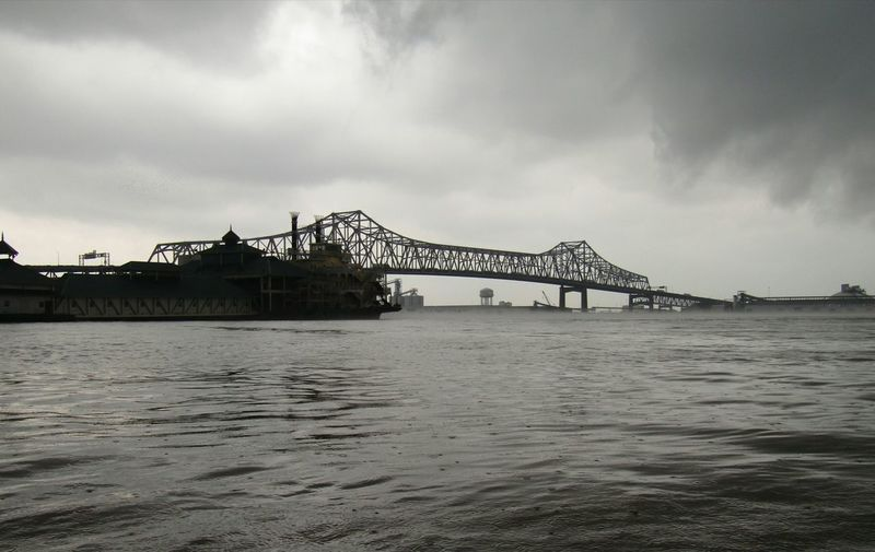 Mississippi River Mississippi Bridge Baton Rouge Louisiana Blackandwhite Storm Water Built Structure Architecture Cloud - Sky Sky Bridge - Man Made Structure Travel Destinations Bridge Transportation Industry Travel