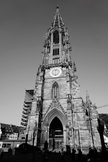 Münster, Bw_collection Bw Blackandwhite Built Structure Architecture Building Exterior Religion Belief Sky Place Of Worship Spirituality Building Travel Destinations Gothic Style