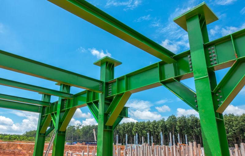 Bolt Construction Construction Site Green Civil Construction Work Installation Nut Site Steel Steel Structure  Structure