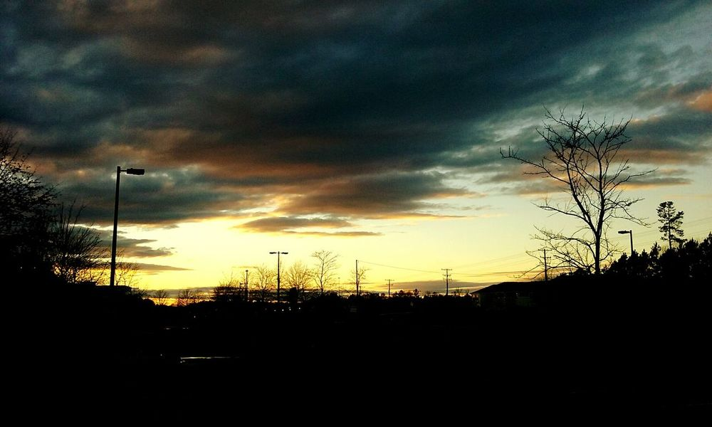 1.10.16 5:06p.m. Sunset Sunset_collection Sky And Clouds Sky_collection Skyscape Skyview Morrisville Northcarolina CeBPhotography