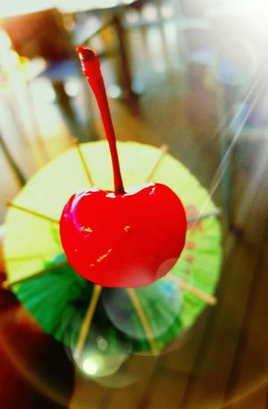 Cherry Sommergefühle Red Heart Shape Cherry Food Umbrella Drink Close-up Toppings Closeup Photography Cherrys Food Photography Cherryred Eyeem Market Eyeem Marketplace Foods Summer Food And Drink